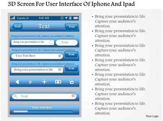 0115 3d Screen For User Interface Of Iphone And Ipad Powerpoint ...