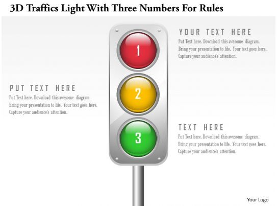 0115 3d traffics light with three numbers for rules powerpoint 0115 3d traffics light with three numbers for rules powerpoint template powerpoint presentation images templates ppt slide templates for presentation maxwellsz