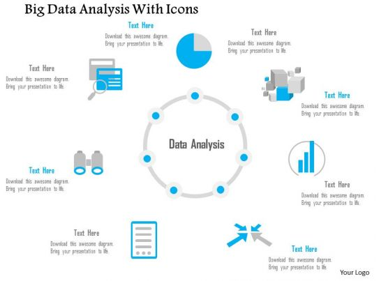 0115 Big Data Analysis With Icons Of Different Sources