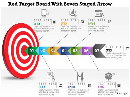 bullseye chart template - 52354786 style circular bulls eye 7 piece powerpoint