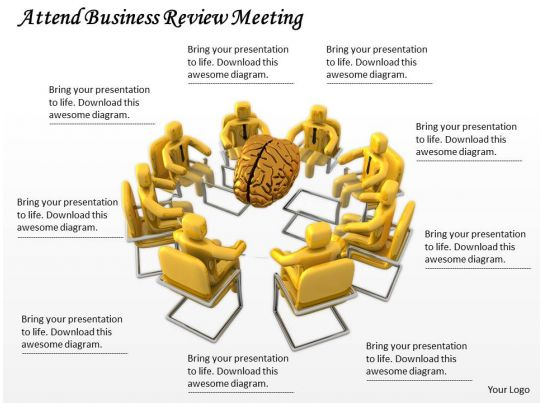 0214 attend business review meeting ppt graphics icons