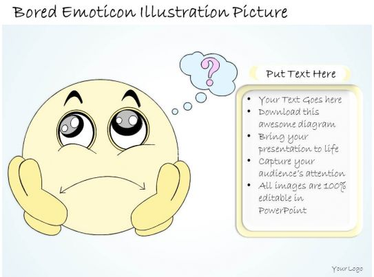 0314 Business Ppt diagram Bored Smiley And Emoticon ...