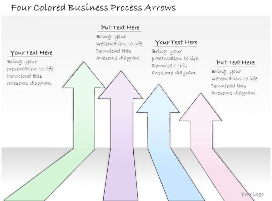 business process catalogue template - 0314 business ppt diagram four colored business process