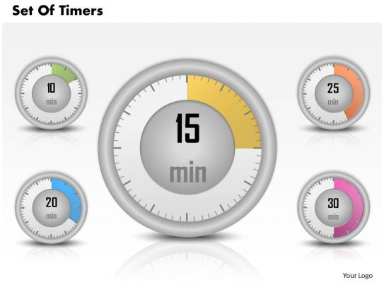 0314 business ppt diagram set of timers powerpoint template