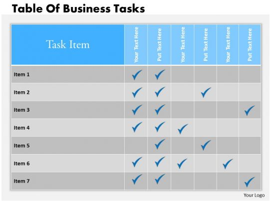 Business ppt diagram table of business tasks powerpoint template slide01 0314 business ppt diagram table of business tasks powerpoint template slide01 ccuart Image collections