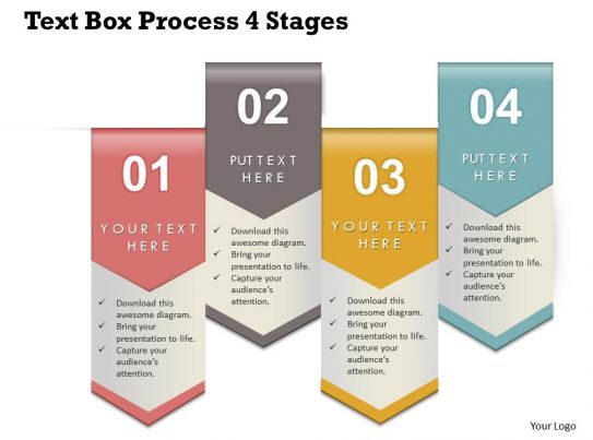 0314 Business Ppt Diagram Text Box Process 4 Stages