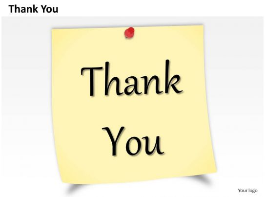 0314 Design Of Thank You Note Powerpoint Slide Template