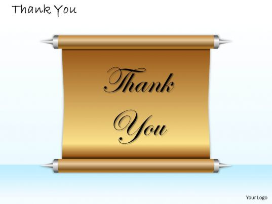 0314 Thank You Card Design Templates Powerpoint Presentation