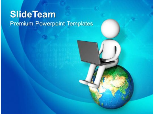 0413 Connect With World Globel Business Theme PowerPoint Templates ...