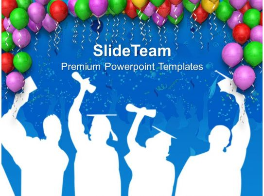 decoration with balloons party theme powerpoint templates ppt, Powerpoint