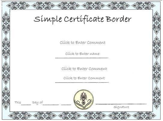 resume format presentation certificate template