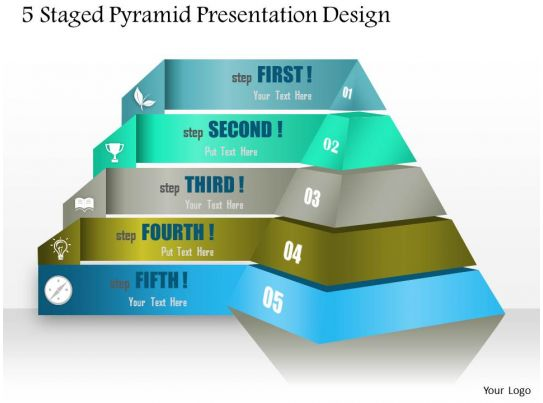 90149044 style layered pyramid 5 piece powerpoint