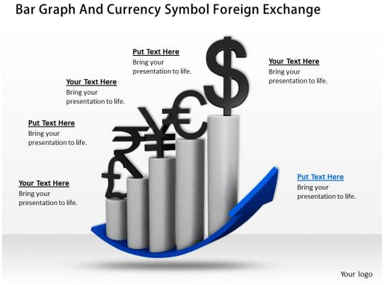 0514 Bar Graph And Currency Symbol Foreign Exchange Image ...