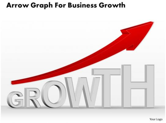 0514 Business Consulting Diagram Arrow Graph For Business ...