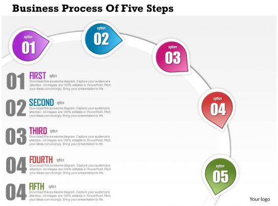 Technology Management Image: 0514 Business Consulting Diagram Business Process Of Five