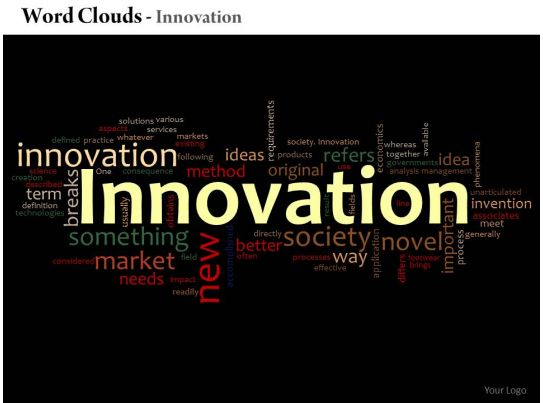 0514 innovation word cloud powerpoint slide template