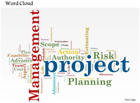 0514 project management word cloud powerpoint slide template slide01, Powerpoint templates
