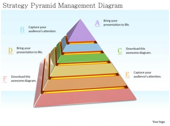0514 strategy pyramid management diagram image graphics