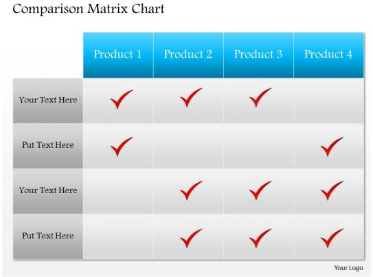 0514 template comparison matrix powerpoint presentation for Pros and cons matrix template