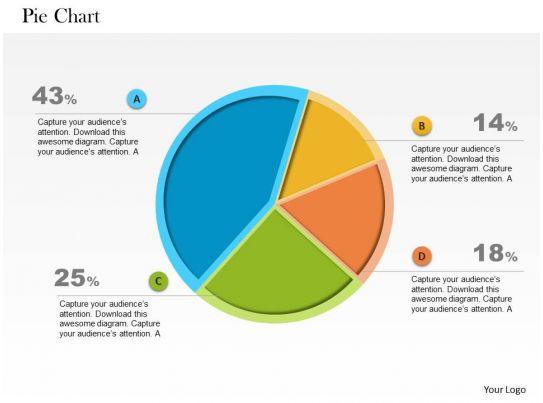 0514 unique designed pie chart data driven powerpoint