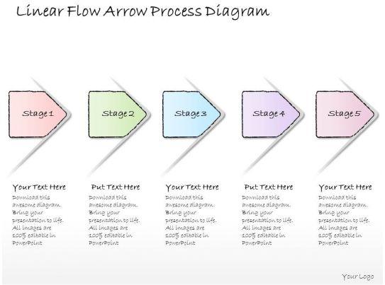 0614 business ppt diagram linear flow arrow process diagram