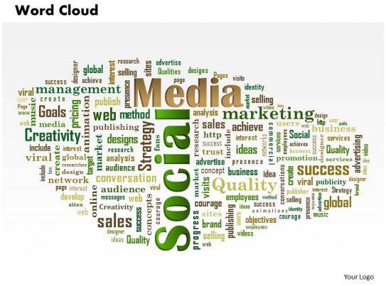0614 social media word cloud powerpoint slide template
