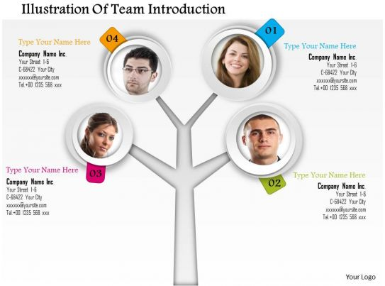 0714 business consulting illustration of team introduction