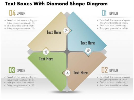 0714 Business Consulting Text Boxes With Diamond Shape