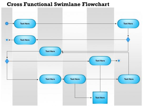0814 business consulting diagram cross functional swimlane flowchart powerpoint slide template. Black Bedroom Furniture Sets. Home Design Ideas
