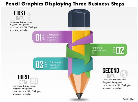 0814 business consulting diagram pencil chart with three action  : pencil diagram - findchart.co