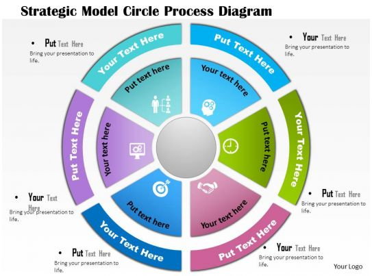 0814 Business Consulting Diagram Strategic Model Circle