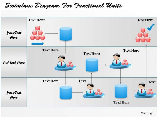 business consulting diagram swimlane diagram to map a process     business consulting diagram swimlane diagram for functional units powerpoint