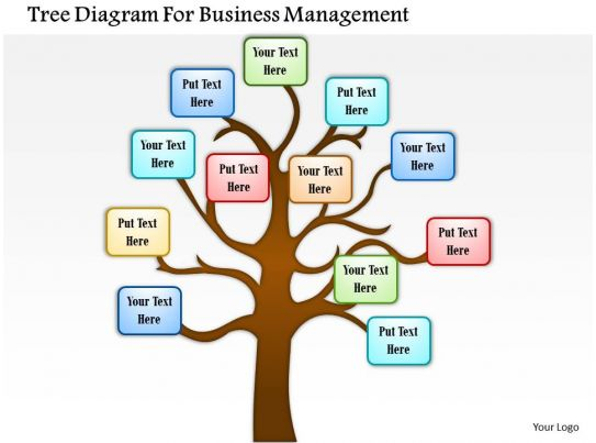 0814 business consulting tree diagram for business management ...