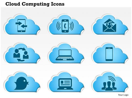 0814 cloud computing icons phone ringing email social