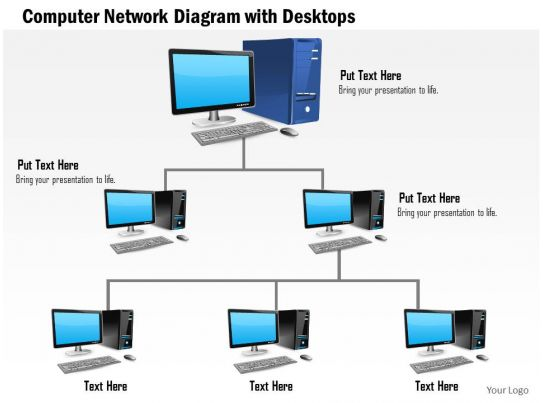 Computer network business powerpoint templates blog single author small 0814 computer network diagram with desktops connected computer network business powerpoint templates toneelgroepblik Choice Image