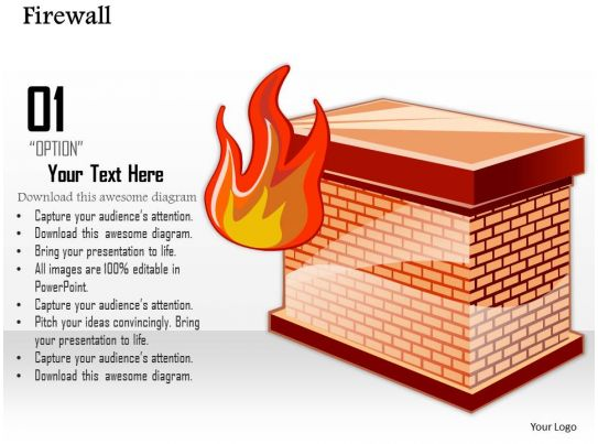 0814 icon of a firewall to separate the internal network