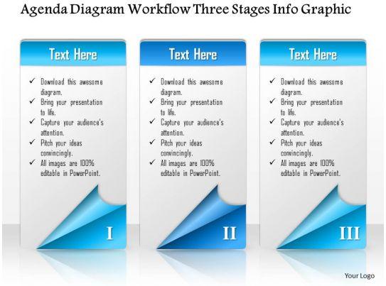 0914 business plan agenda diagram workflow three stages info graphic powerpoint presentation. Black Bedroom Furniture Sets. Home Design Ideas