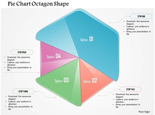 0914 business plan pie chart octagon shape powerpoint