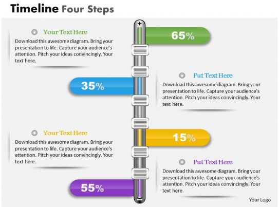 0914 Business Plan Timeline Four Steps Powerpoint