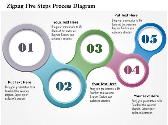0914 business plan zigzag five steps process diagram