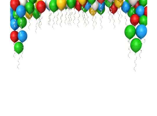 0914 Colorful Balloons For Birthday Celebrations Stock Photo