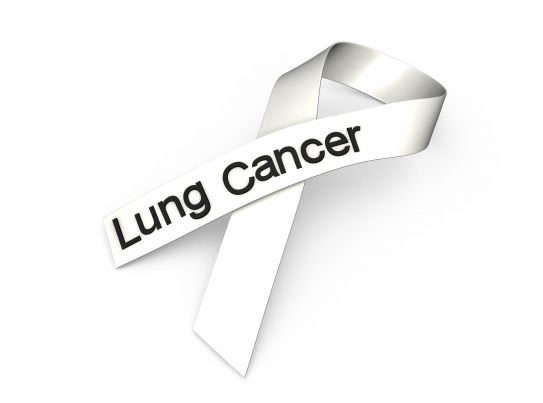 0914 white ribbon for lung cancer awareness stock photo