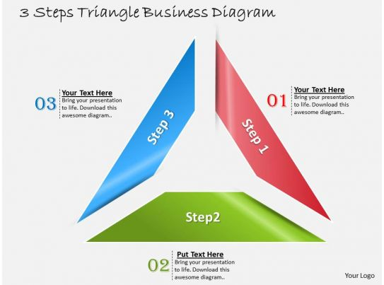 1013 busines ppt diagram 3 steps triangle business diagram powerpoint template