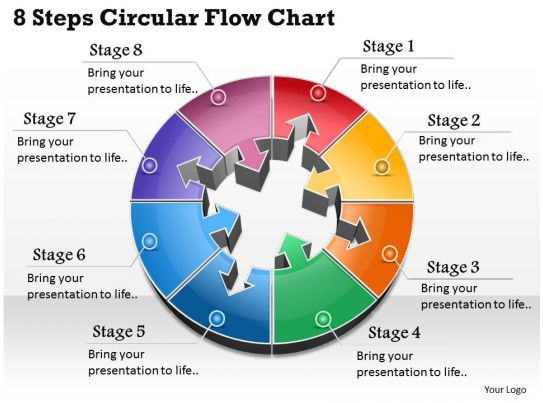 busines ppt diagram  steps in circular flow powerpoint template