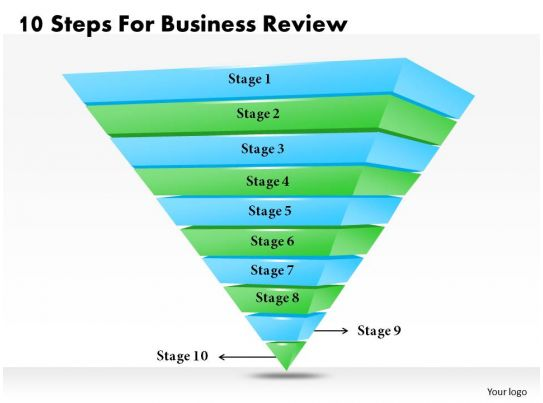 1013 Business Ppt Diagram 10 Steps For Business Review Powerpoint
