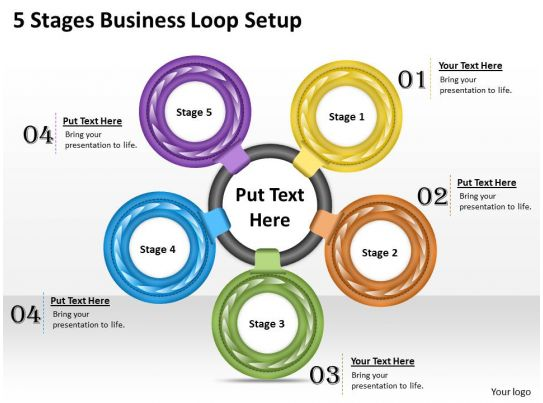 setting up a powerpoint template - 1013 business ppt diagram 5 stages business loop setup