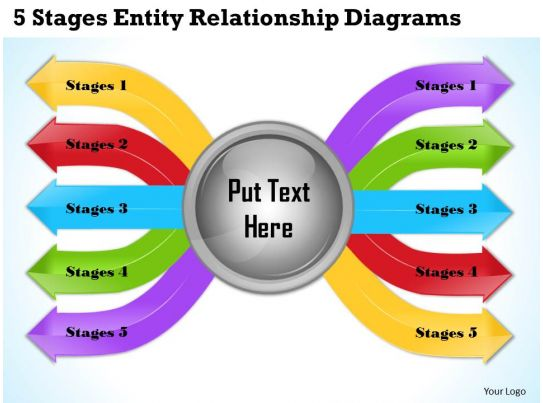 business ppt diagram  stages one to many relationship     business ppt diagram  stages one to many relationship powerpoint template