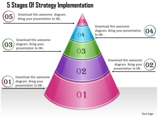 1013 business ppt diagram 5 stages of strategy