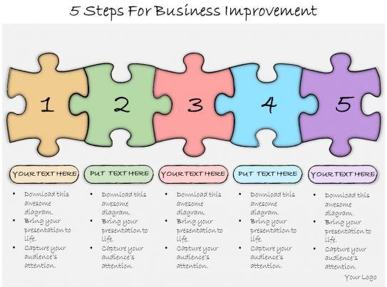Process improvement presentation template bellacoola 1013 business ppt diagram 5 steps for business improvement powerpoints templates cheaphphosting Choice Image