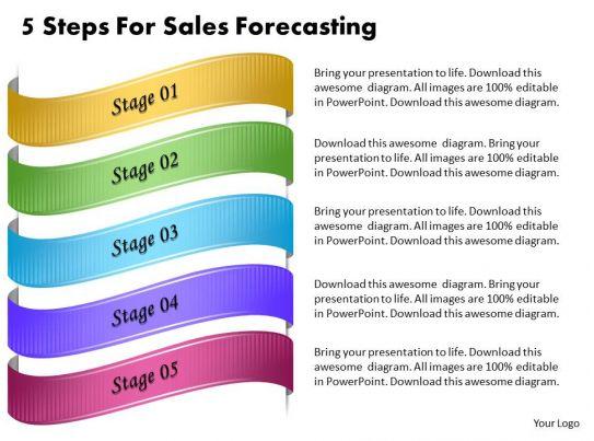 1013 Business Ppt Diagram 5 Steps For Sales Forecasting